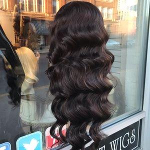 Accessories - Wig hair piece brown Long Deep Wave half wig brown